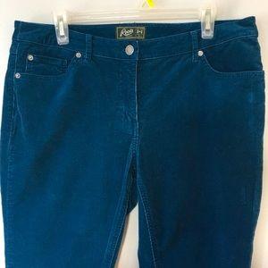Roots Blue Corduroy Pants Women's Size 32 US